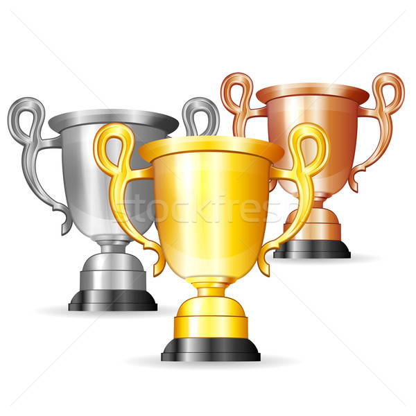 Set oro argento bronzo trofei vettore Foto d'archivio © -TAlex-
