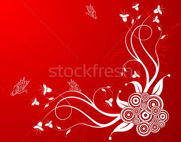 Virág pillangó alkotóelem terv tavasz absztrakt Stock fotó © -TAlex-