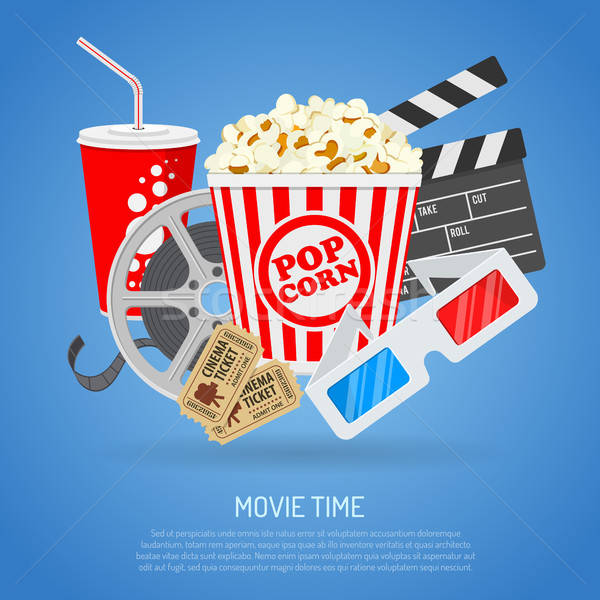 Stock photo: Cinema and Movie time