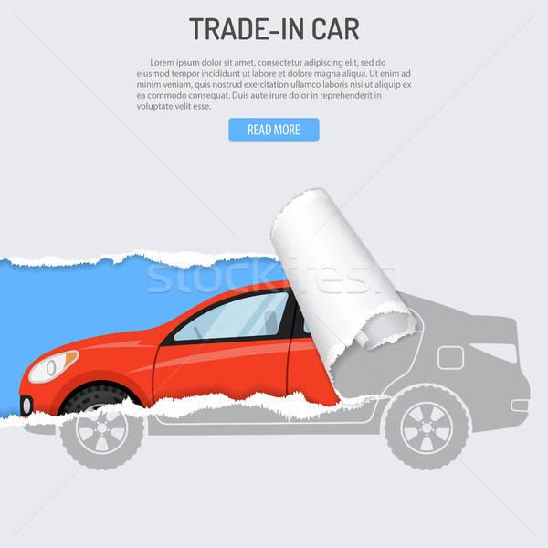 家賃 買い 車 バナー 新しい車 穴 ストックフォト © -TAlex-