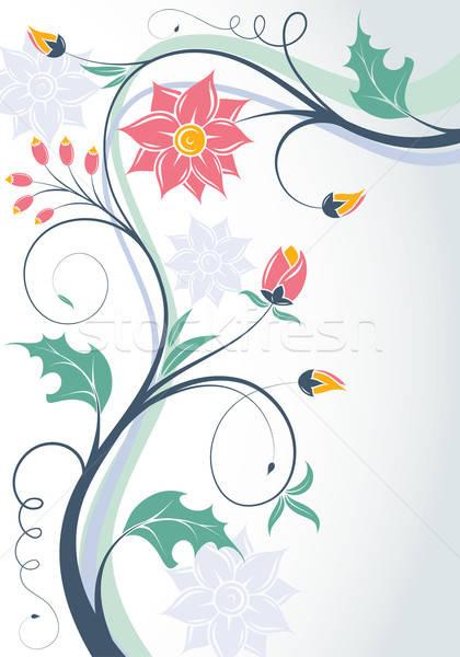 Floral cadre bourgeon élément design art Photo stock © -TAlex-