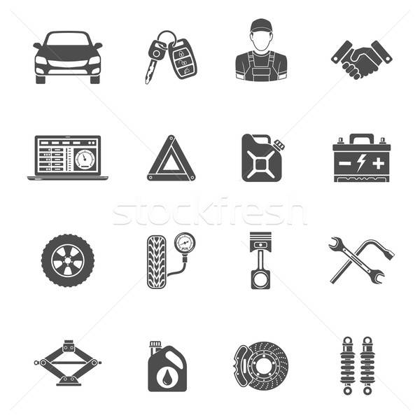 Car Service Vector Icons Set Stock photo © -TAlex-