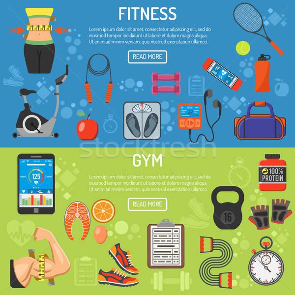 Healthy Lifestyle horizontal banners Stock photo © -TAlex-