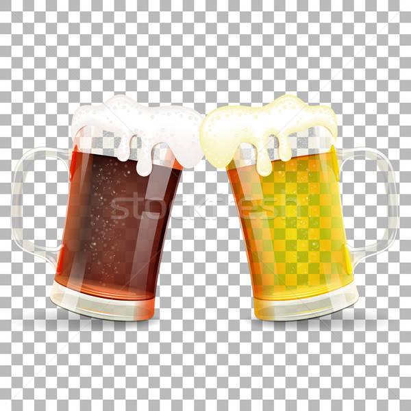 Oktoberfest bira festival kutlama gözlük alman birası Stok fotoğraf © -TAlex-