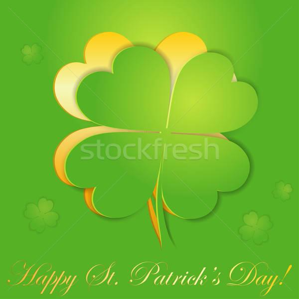 St. Patrick's Day sticker Stock photo © -TAlex-