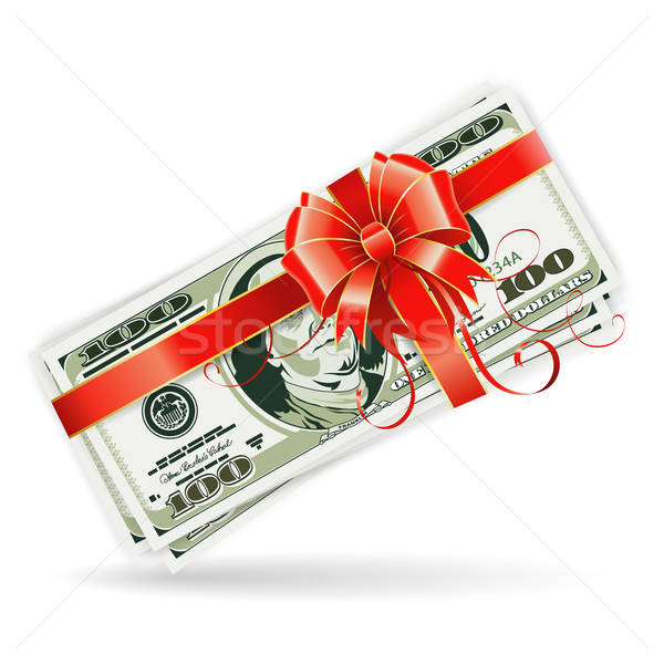 Dollar Bills with Ribbon and Bow Stock photo © -TAlex-