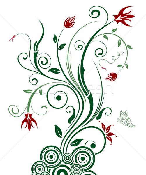 Resumen floral caos mariposa elemento diseno Foto stock © -TAlex-
