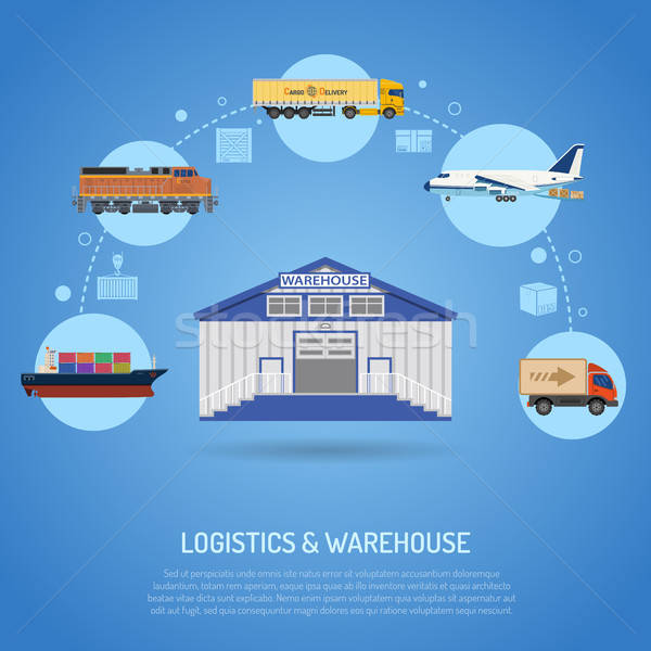 Warehouse and logistics concept Stock photo © -TAlex-