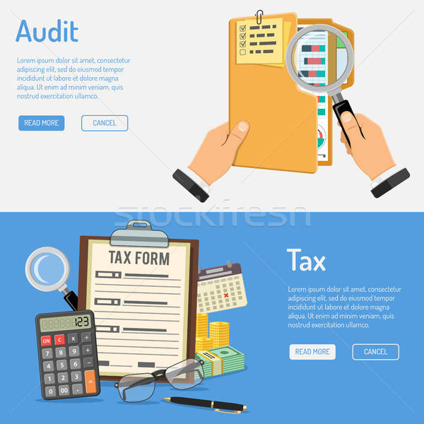 Auditing, Tax and Business Accounting Banners Stock photo © -TAlex-