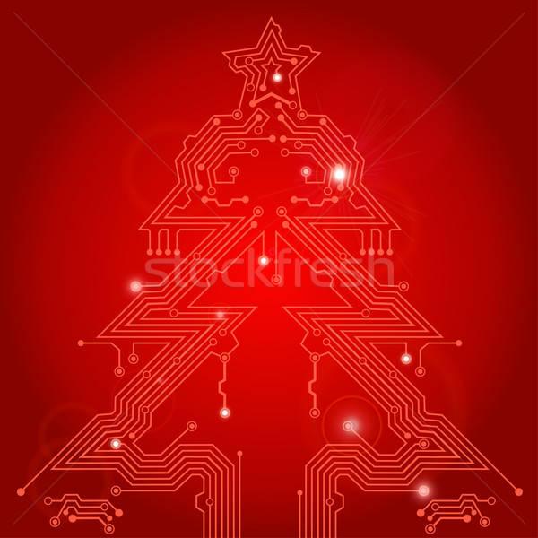 Christmas Tree From Circuit Board Vector Illustration C Oleksii Telnov Talex 1157037 Stockfresh