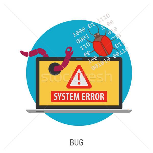 Kriminalität Internet Sicherheit Symbol wie Virus Stock foto © -TAlex-