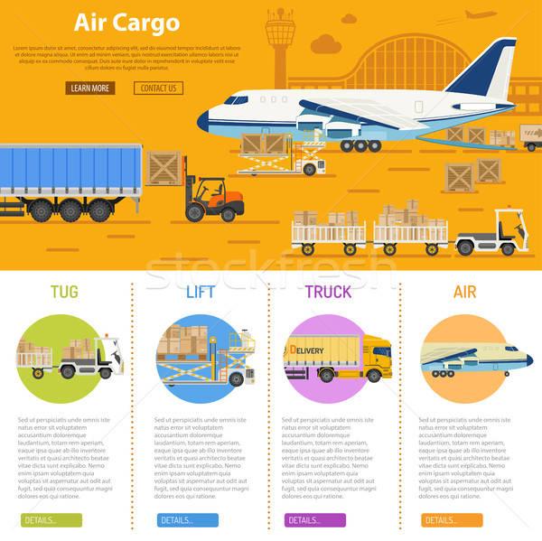 Air cargo infographics Stock photo © -TAlex-