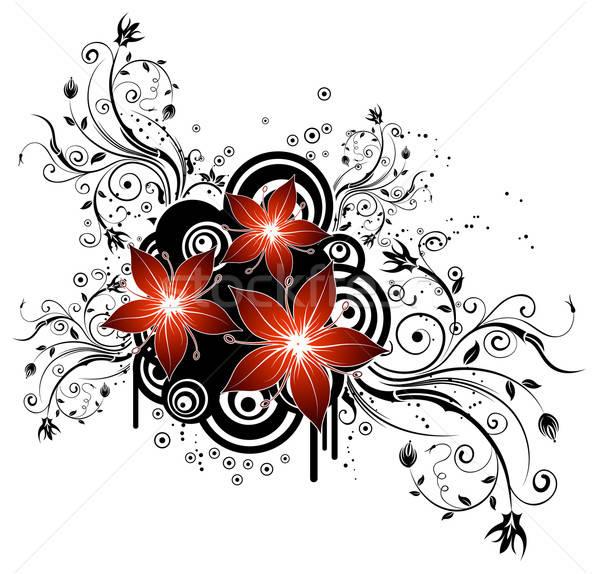 Streszczenie kwiatowy chaos kółko projektu Zdjęcia stock © -TAlex-