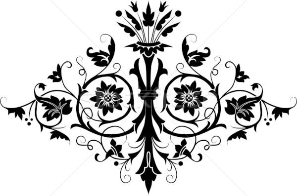 Element ontwerp bloem illustratie kunst zomer Stockfoto © -TAlex-