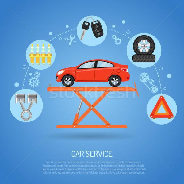 Auto servizio icone come scintilla plug Foto d'archivio © -TAlex-