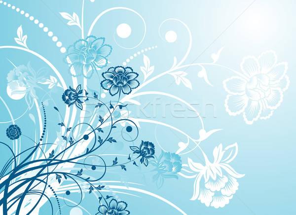 Chaos kwiatowy kwiat streszczenie projektu sylwetka Zdjęcia stock © -TAlex-