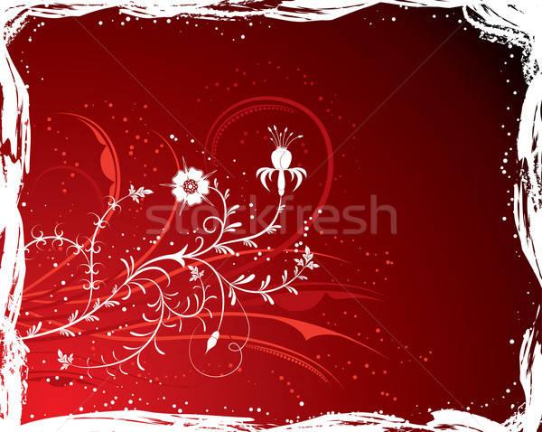 Grunge background flower, elements for design (Vector) Stock photo © -TAlex-