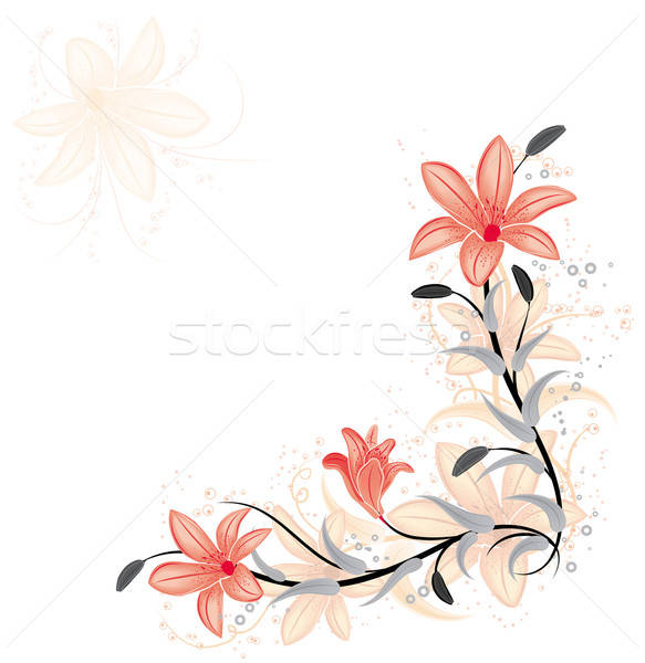 Element ontwerp lelie vector abstract Stockfoto © -TAlex-