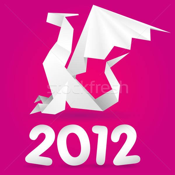 折り紙 龍 2012 年 デザイン ストックフォト © -TAlex-