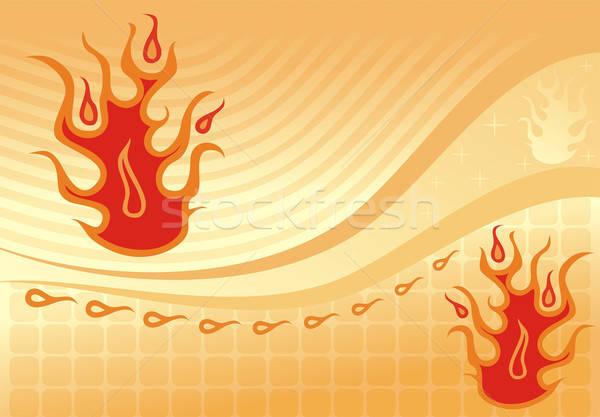 Ateşli soyut dizayn yangın arka plan çerçeve Stok fotoğraf © -TAlex-