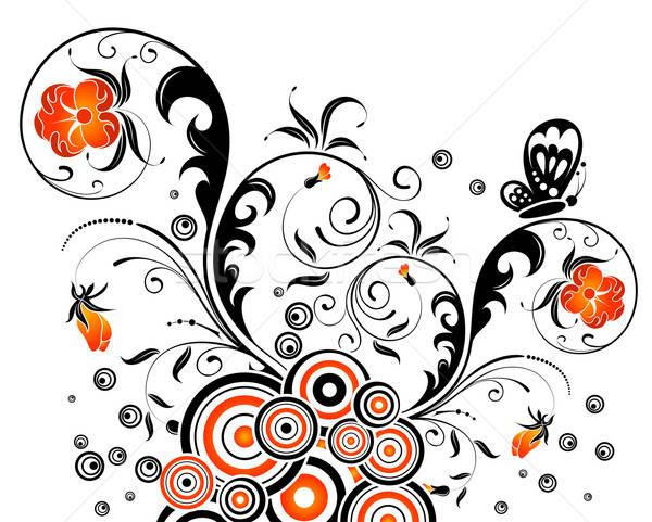 цветочный абстракция аннотация хаос бабочка элемент Сток-фото © -TAlex-