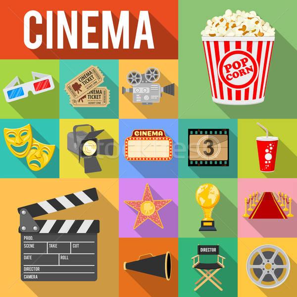 Foto stock: Cinema · filme · longo · sombras · como