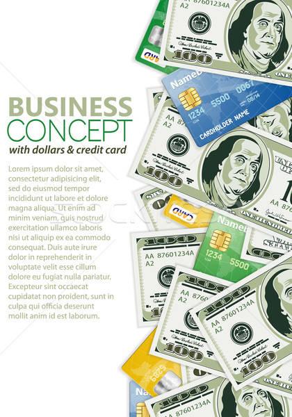 Działalności ramki karty kredytowe szablon projektu Zdjęcia stock © -TAlex-