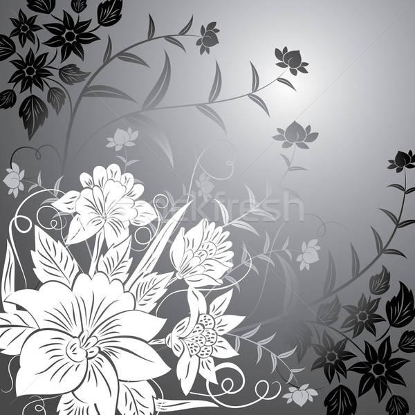 Virágmintás elemek terv vektor művészet nyár Stock fotó © -TAlex-