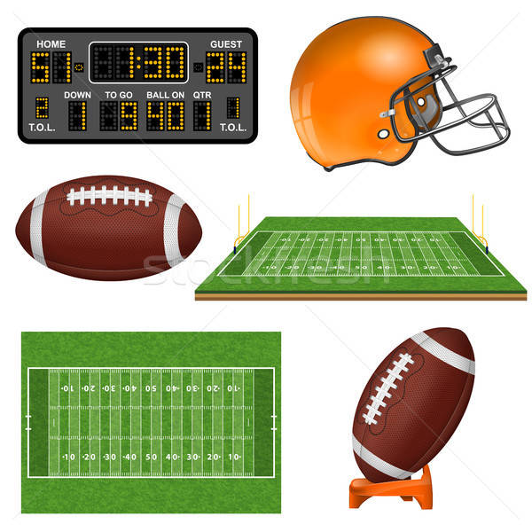 American Football Realistic Icons Stock photo © -TAlex-
