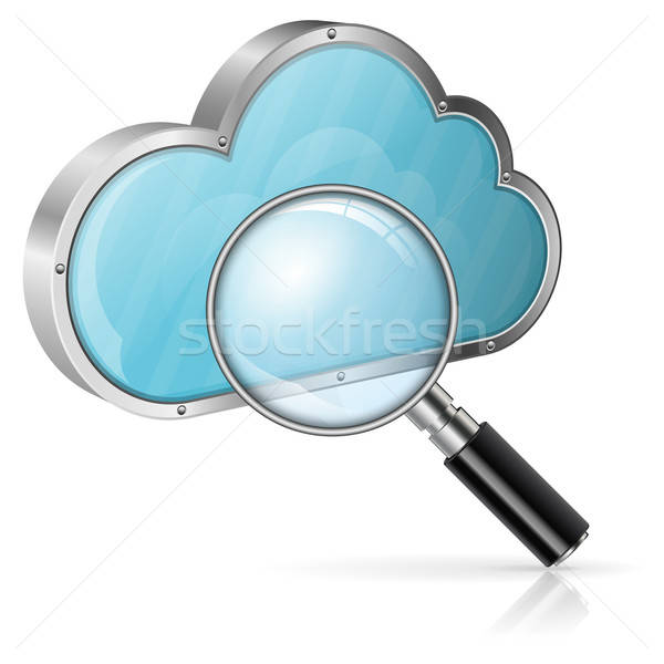 Search in Cloud Computing Concept Stock photo © -TAlex-