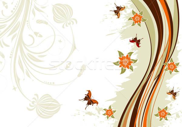 Fiore farfalla modello onda elemento design primavera Foto d'archivio © -TAlex-
