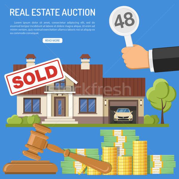 продажи недвижимости аукционе предложение Сток-фото © -TAlex-