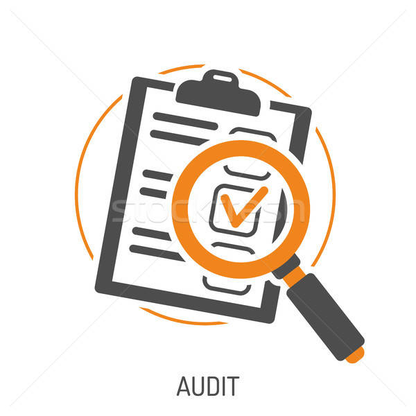 Audit and Test Flat Icon Set Stock photo © -TAlex-