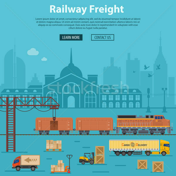 Railway Freight Delivery and Logistics Stock photo © -TAlex-