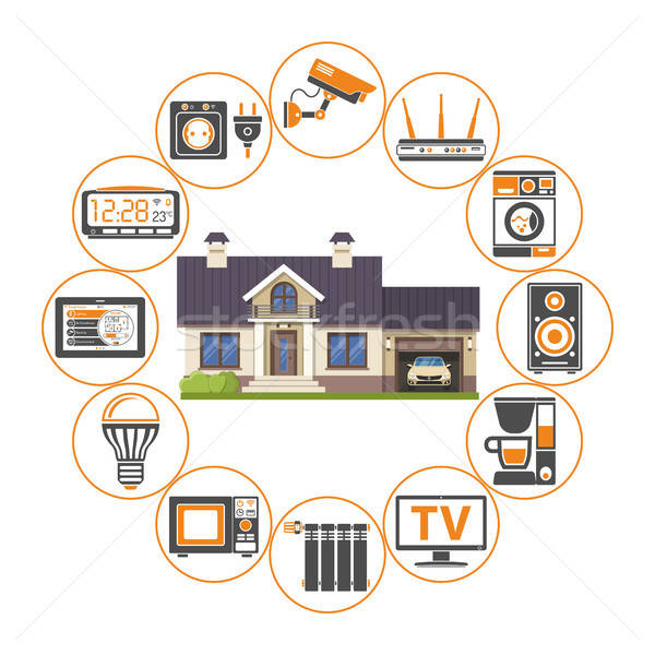 Smart domu Internetu rzeczy domu Zdjęcia stock © -TAlex-
