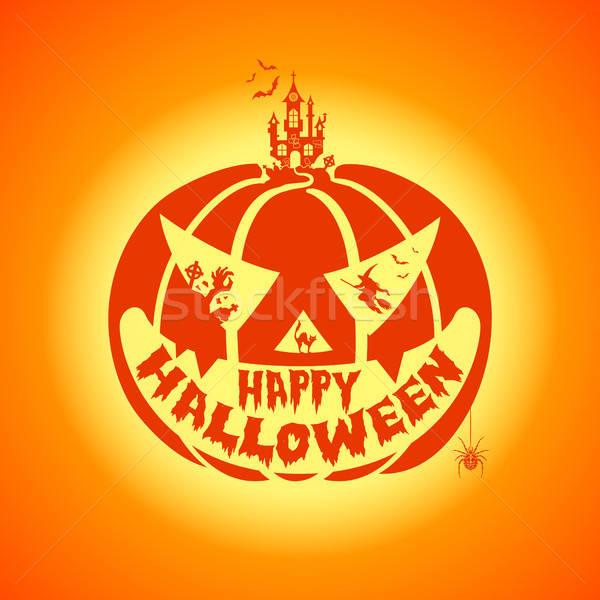 Happy Halloween Party Poster Stock photo © -TAlex-