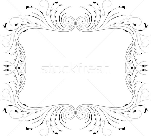 Stock photo: Floral frame, element for design, vector