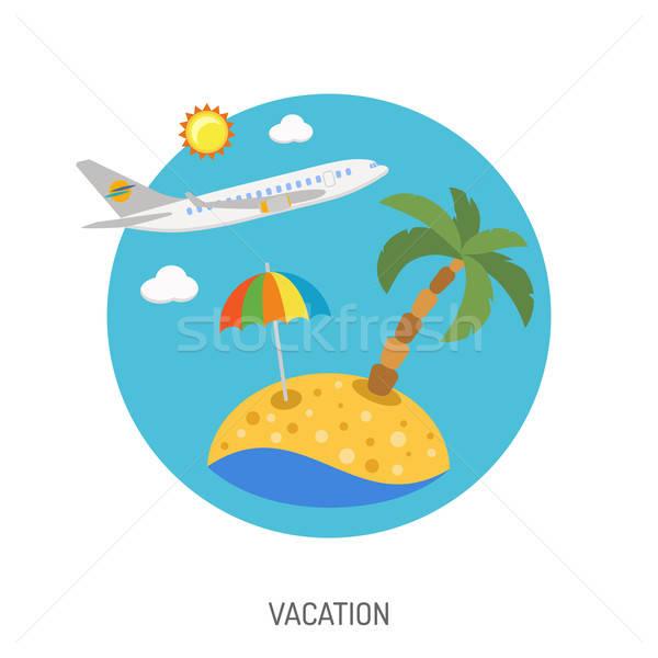 Vacation Flat Icon Stock photo © -TAlex-