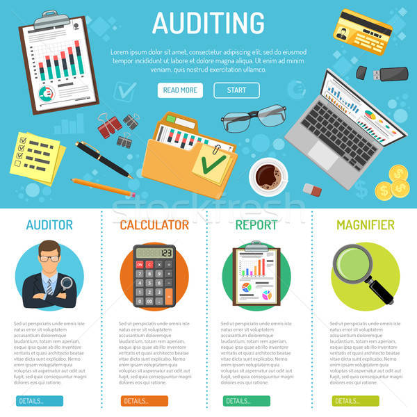 ビジネス 会計 インフォグラフィック 税 バナー スタイル ストックフォト © -TAlex-