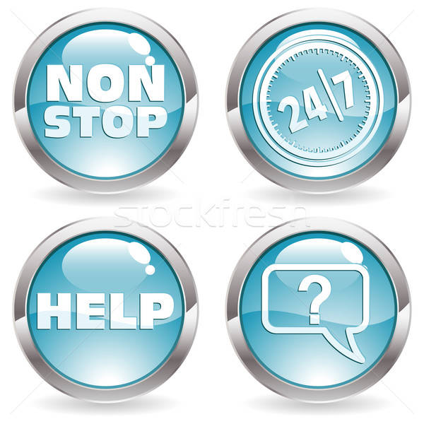 Collect Button with twenty four hours by seven days Stock photo © -TAlex-