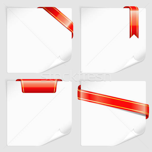 Blanche papier texte affaires Photo stock © -TAlex-