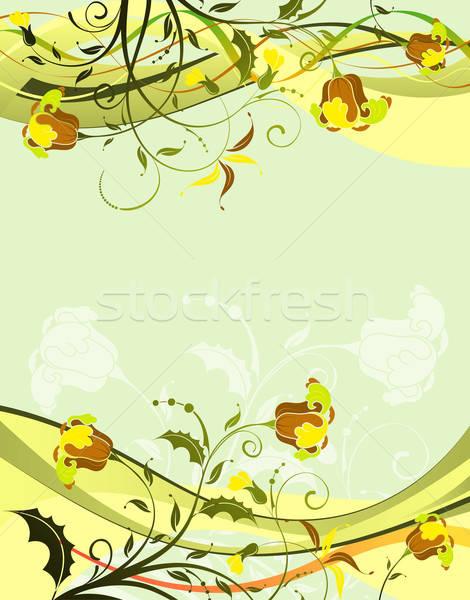 Floreale modello onda elemento design abstract sfondo Foto d'archivio © -TAlex-