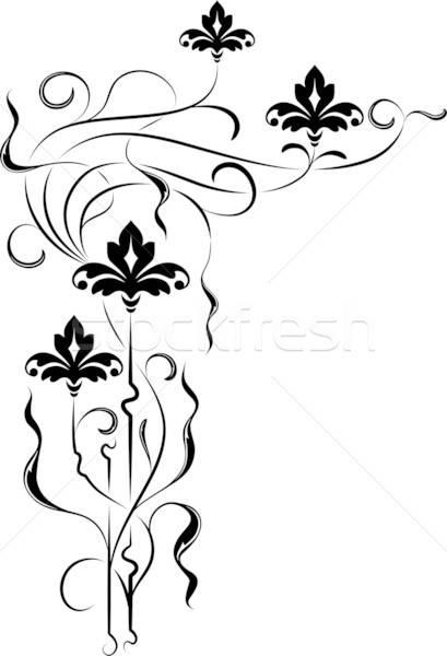 Proiect colţ floare vector floare cadru Imagine de stoc © -TAlex-