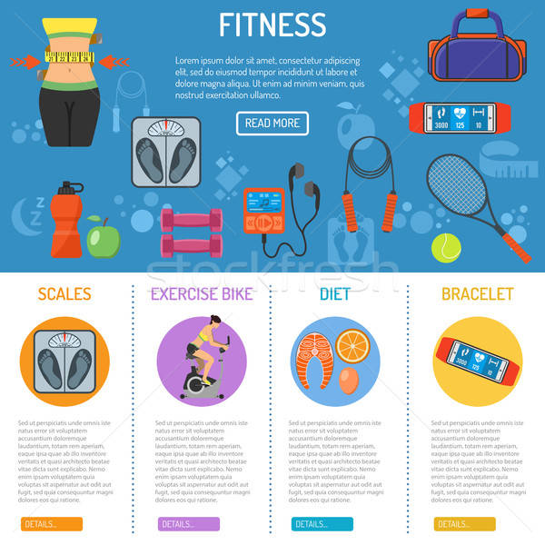 Fitness and gym infographics Stock photo © -TAlex-