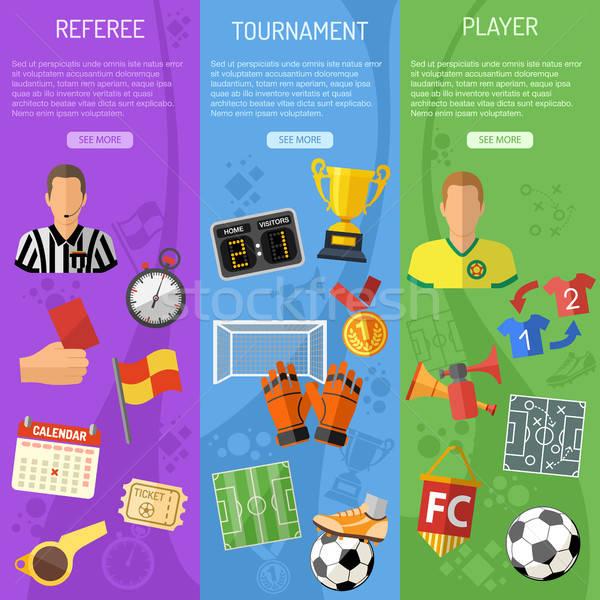 Soccer vertical Banners Stock photo © -TAlex-