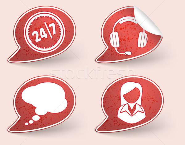 Aufkleber business woman Berater Symbol Element Design Stock foto © -TAlex-