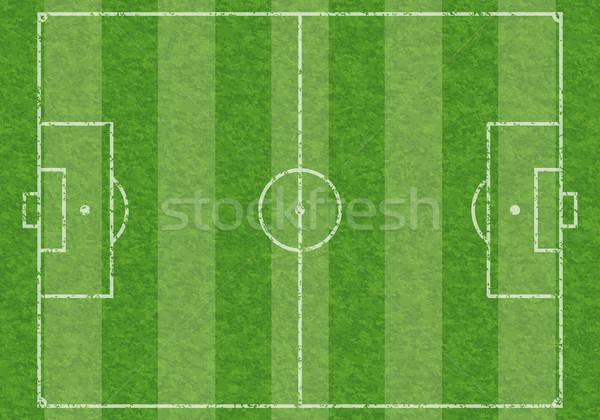 Fußballplatz Gras Sport Fußball Hintergrund Stock foto © -TAlex-