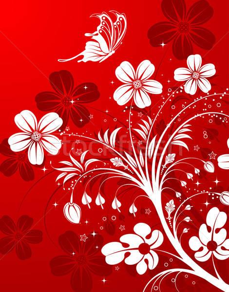 Virág pillangó alkotóelem terv levél háttér Stock fotó © -TAlex-