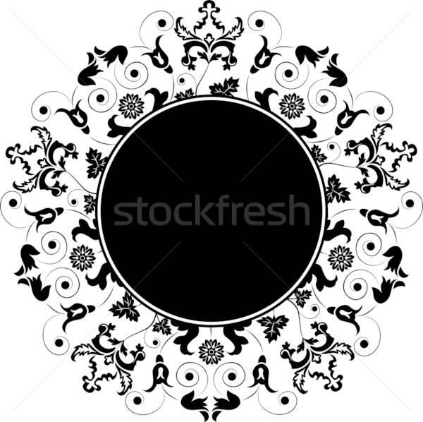 Floral frame, element for design, vector Stock photo © -TAlex-
