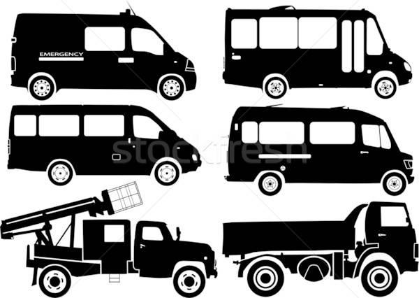 Silhouette cars, vector Stock photo © -TAlex-